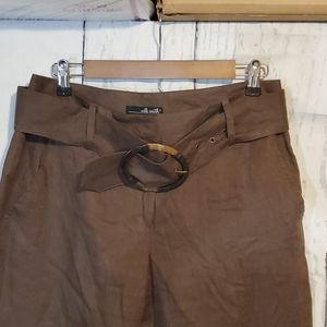 Willi Smith, chocolate brown linen pants